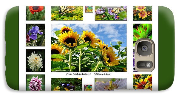 Galaxy Case featuring the photograph Pretty Petals Collection I by Diane E Berry