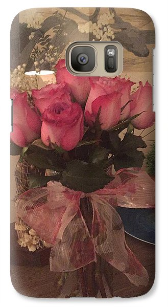 Galaxy Case featuring the photograph Pretty Pink by Paula Brown