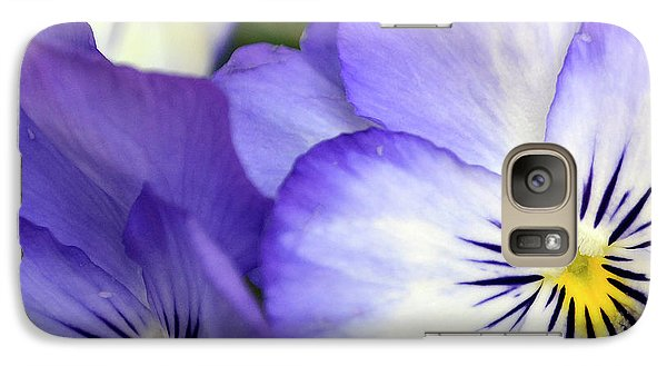 Galaxy Case featuring the photograph Pretty Violas by Ann Bridges