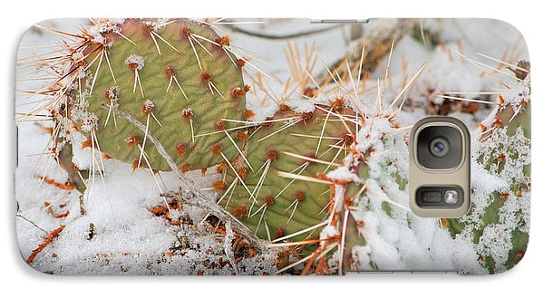 Galaxy Case featuring the photograph Prickley Pear Cactus by Donna Greene