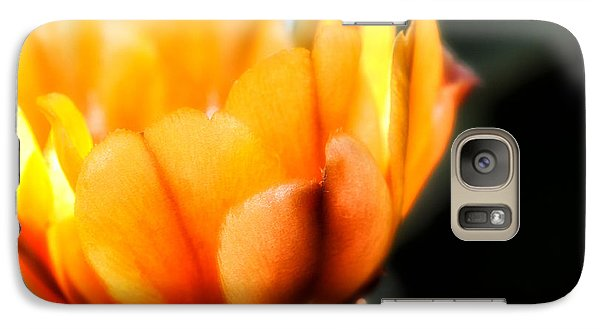 Galaxy Case featuring the photograph Prickly Pear Flower by Lynn Geoffroy