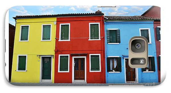Galaxy Case featuring the photograph Primary Colors Too Burano Italy by Rebecca Margraf