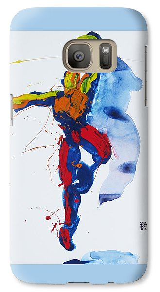 Galaxy Case featuring the painting Primary Vertical Jump Shadow by Shungaboy X