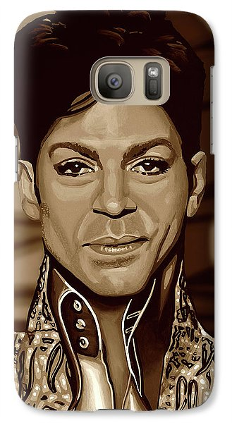 Rhythm And Blues Galaxy S7 Case - Prince 2 Gold by Paul Meijering