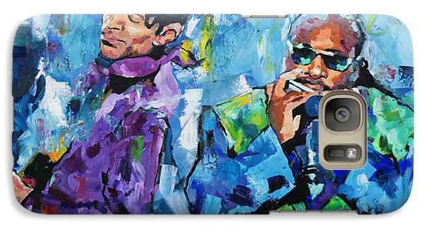 Galaxy Case featuring the painting Prince And Stevie by Richard Day