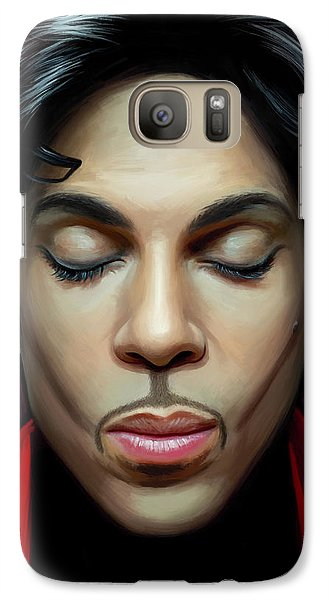 Galaxy Case featuring the painting Prince Artwork 2 by Sheraz A