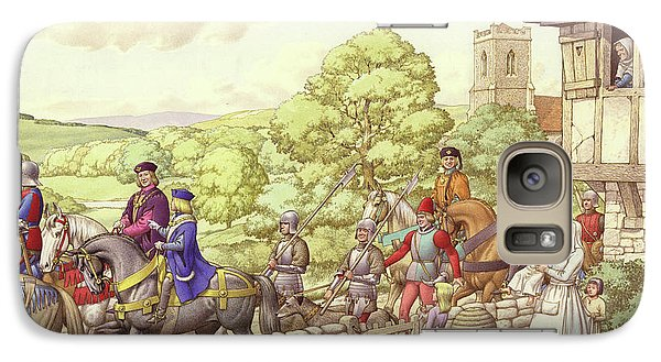 Prince Edward Riding From Ludlow To London Galaxy S7 Case