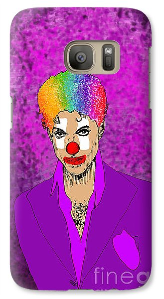 Galaxy Case featuring the drawing Prince by Jason Tricktop Matthews