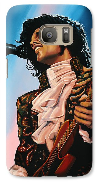 Rhythm And Blues Galaxy S7 Case - Prince Painting by Paul Meijering