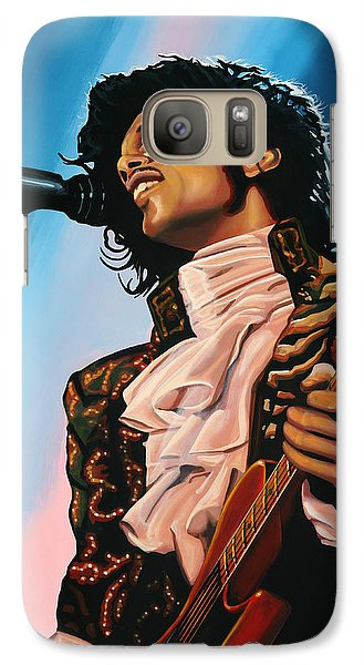 Musicians Galaxy S7 Case - Prince Painting by Paul Meijering