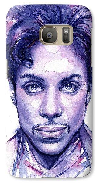 Musicians Galaxy S7 Case - Prince Purple Watercolor by Olga Shvartsur