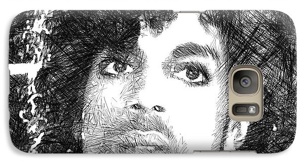 Prince - Tribute Sketch In Black And White 3 Galaxy S7 Case