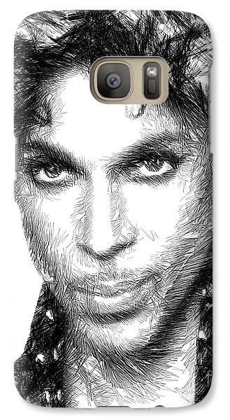 Prince - Tribute Sketch In Black And White Galaxy S7 Case
