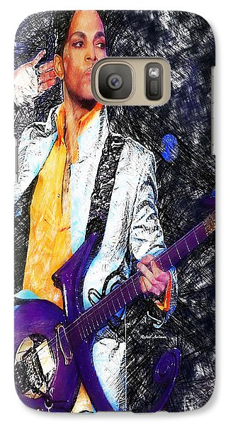 Prince - Tribute With Guitar Galaxy S7 Case