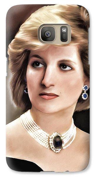 Galaxy Case featuring the digital art Princess Diana by Pennie  McCracken