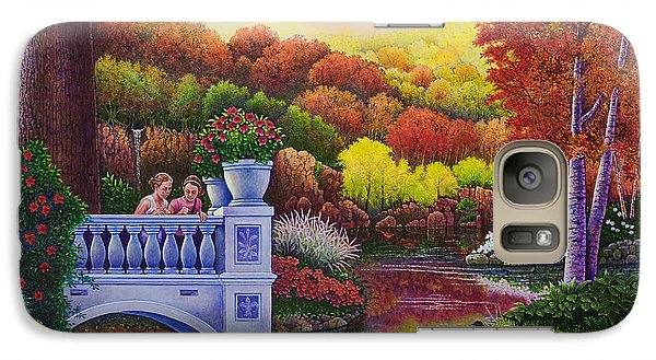 Galaxy Case featuring the painting Princess Gardens by Michael Frank