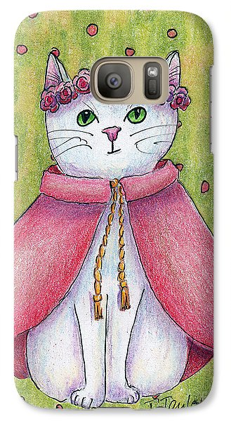Galaxy Case featuring the drawing Princess by Terry Taylor