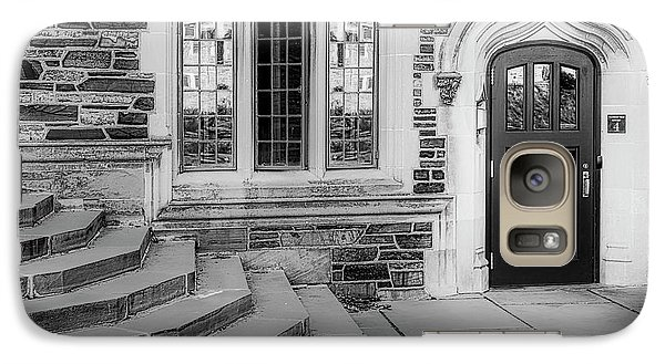 Galaxy Case featuring the photograph Princeton University Lockhart Hall Bw by Susan Candelario