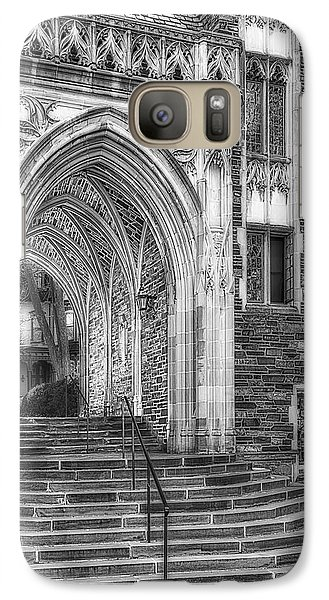 Galaxy Case featuring the photograph Princeton University Lockhart Hall Dorms Bw by Susan Candelario