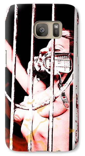 Galaxy Case featuring the painting Prisoner by Tbone Oliver