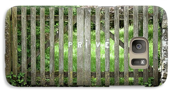 Galaxy Case featuring the photograph Privacy Please by Colleen Williams