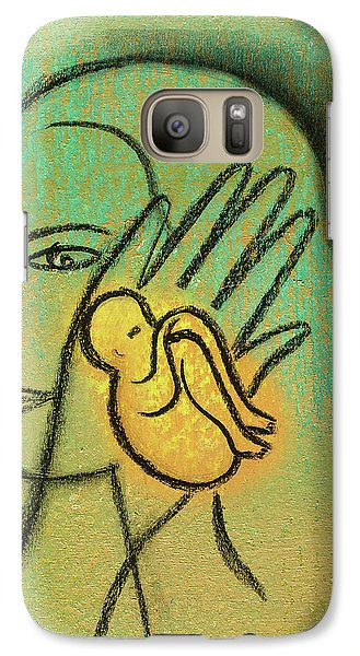 Galaxy Case featuring the painting Pro Abortion Or Pro Choice? by Leon Zernitsky