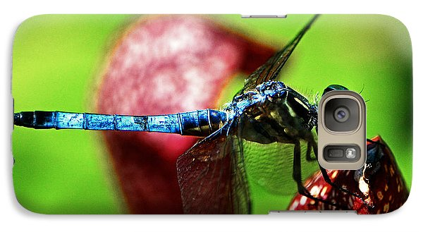 Galaxy Case featuring the photograph Profile Of A Dragonfly 003 by George Bostian