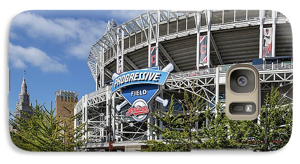 Galaxy Case featuring the photograph Progressive Field In Cleveland Ohio by Dale Kincaid