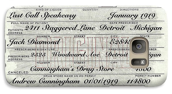 Galaxy S7 Case featuring the photograph Prohibition Prescription Certificate Establishments by David Patterson