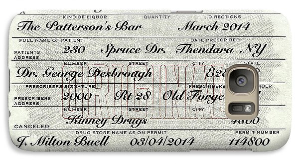 Galaxy Case featuring the photograph Prohibition Prescription Certificate Personalized by David Patterson