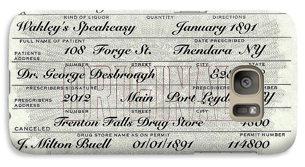 Galaxy Case featuring the photograph Prohibition Prescription Certificate Speakeasy by David Patterson