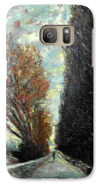 Galaxy Case featuring the painting Promenade by Walter Casaravilla
