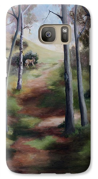Galaxy Case featuring the painting Promised Land by Brenda Thour