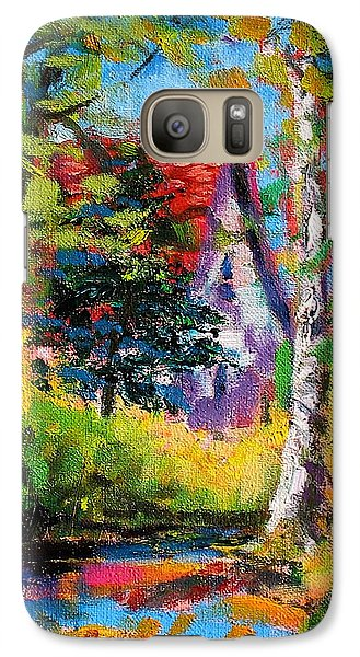 Galaxy Case featuring the painting Prospect Driveway by Les Leffingwell