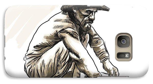 Galaxy Case featuring the drawing Prospector by Antonio Romero