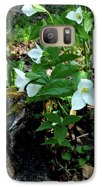 Galaxy Case featuring the photograph Protected Wild Trillium  by LeeAnn McLaneGoetz McLaneGoetzStudioLLCcom