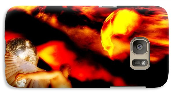 Galaxy Case featuring the digital art Protection by Isabella F Abbie Shores FRSA
