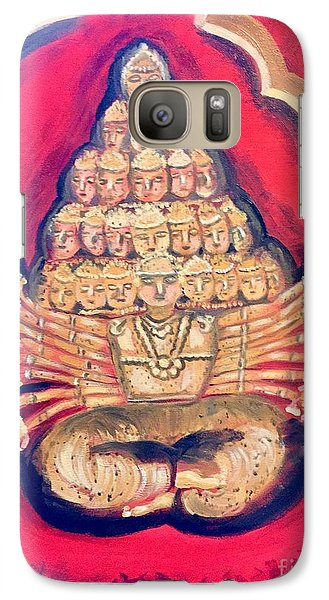 Galaxy Case featuring the painting Protector by Brindha Naveen