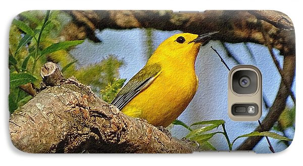 Galaxy Case featuring the photograph Prothonotary Warbler II by Sandy Keeton