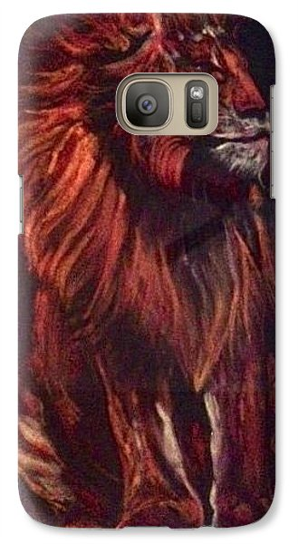 Galaxy Case featuring the pastel Proud King by Ellen Canfield