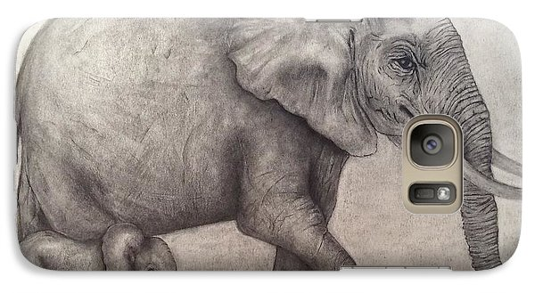 Galaxy Case featuring the painting Proud Mama by Annamarie Sidella-Felts