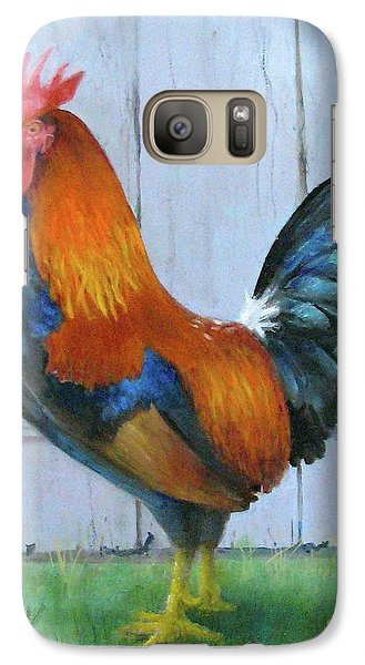 Galaxy Case featuring the painting Proud Rooster by Oz Freedgood