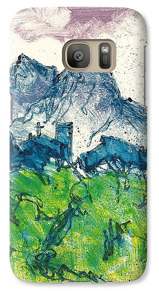 Galaxy Case featuring the painting Provence Landscape Alpilles by Martin Stankewitz