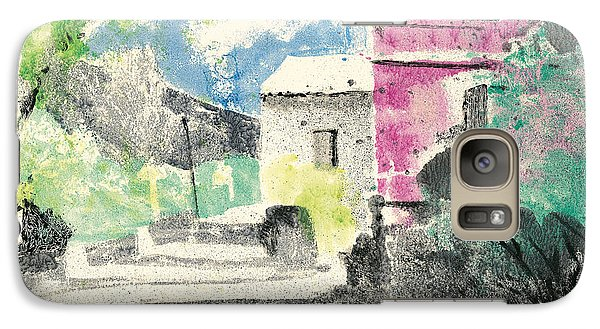 Galaxy Case featuring the painting Provence Landscape Village Cucuron by Martin Stankewitz