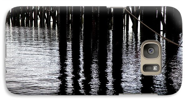 Galaxy Case featuring the photograph Provincetown Wharf Reflections by Charles Harden