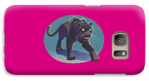 Galaxy Case featuring the mixed media Prowl by J L Meadows