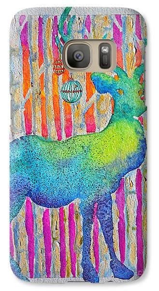 Galaxy Case featuring the painting Psychedeer by Li Newton