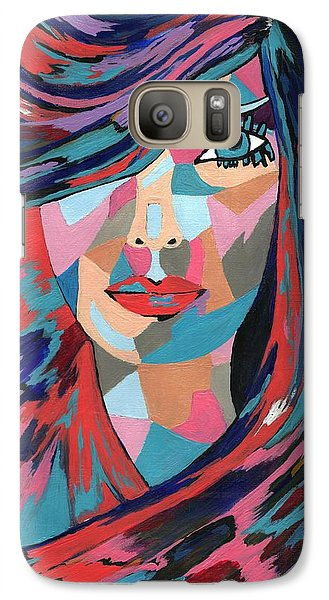 Galaxy Case featuring the painting Psychedelic Jane by Kathleen Sartoris