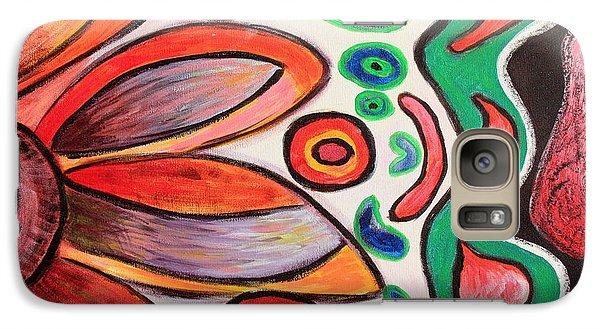 Galaxy Case featuring the painting Psychedelic Summer by Jolanta Anna Karolska