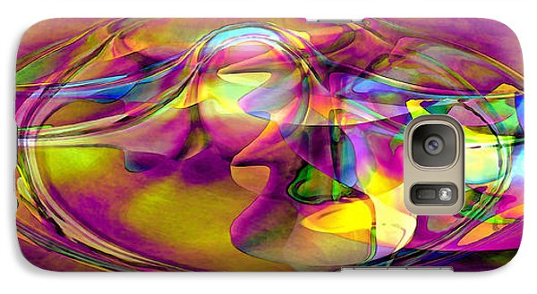 Galaxy Case featuring the digital art Psychedelic Sun by Linda Sannuti
